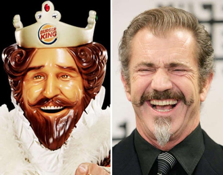 The Burger King and Mel Gibson