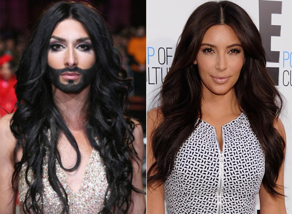 Conchita Wurst and Kim Kardashian