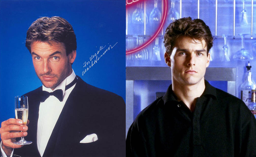 Mark Harmon and Tom Cruise