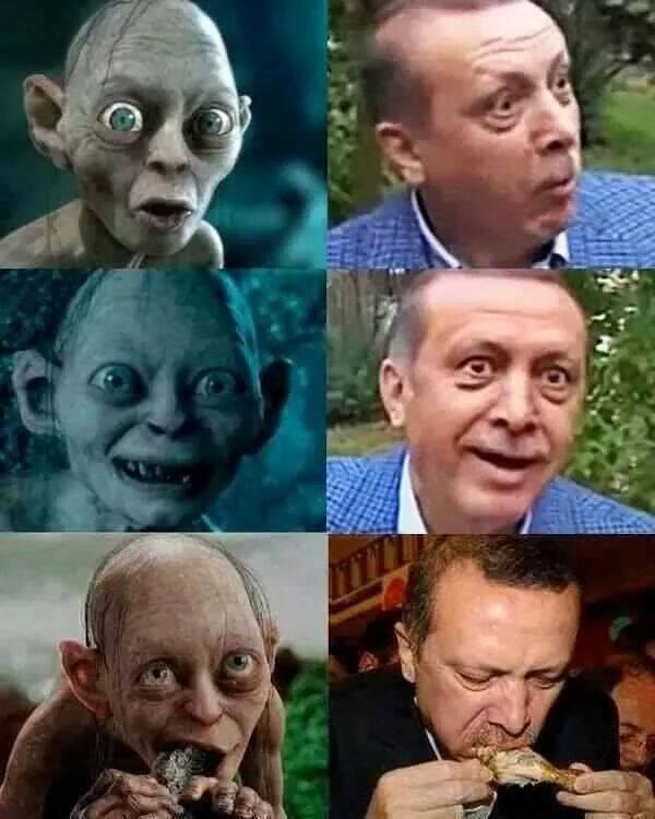 Gollum and Tayyip Erdogan